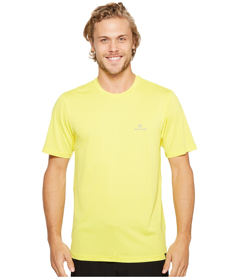 Rip Curl - Search Series Short Sleeve (Yellow) Men's Swimwear
