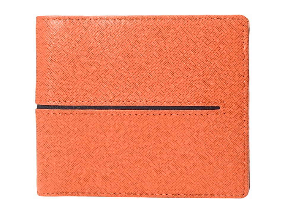 BUGATCHI - Saffiano Two-Tone Wallet (Navy) Wallet Handbags