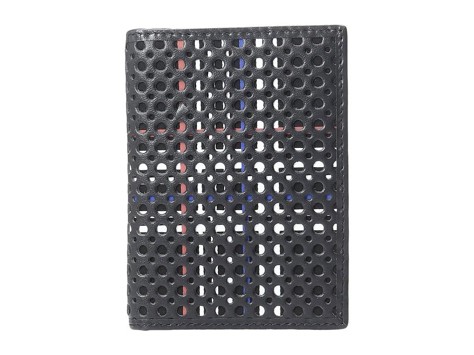 BUGATCHI - Nylon with Nappa Leather Wallet (Black) Wallet Handbags
