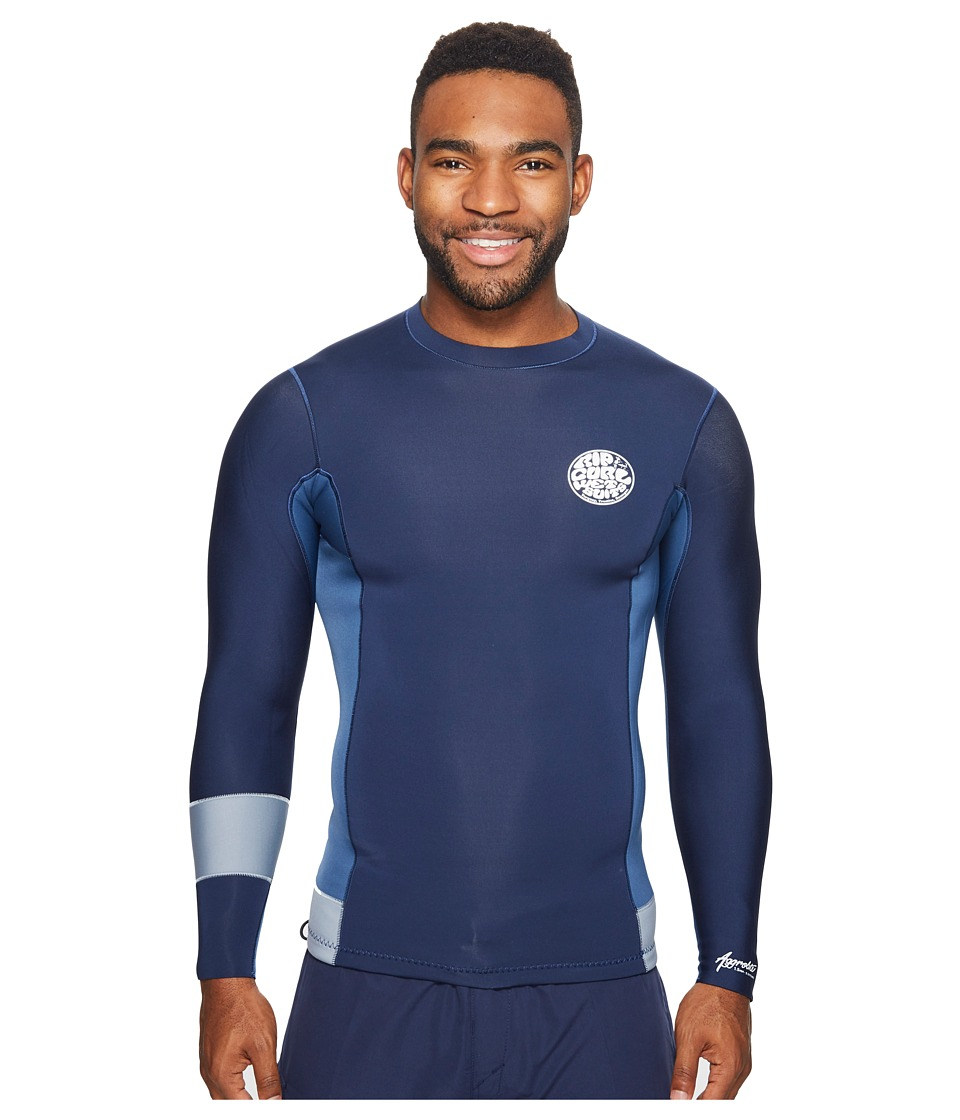 Rip Curl - Aggrolite 1.5mm Long Sleeve Jacket (Navy) Men's Swimwear