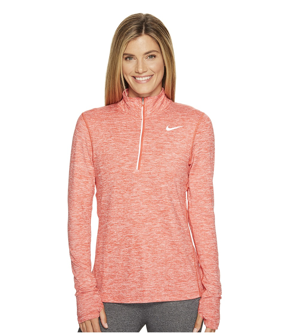 Nike - Dri-FITtm Element Half Zip (Track Red/Heather) Women's Long Sleeve Pullover