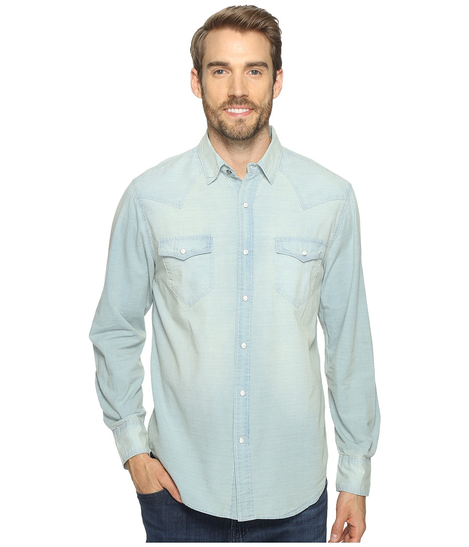 True Grit - Long Sleeve Western Shirt w/ Hand Treated Wash (Chambray) Men's Clothing