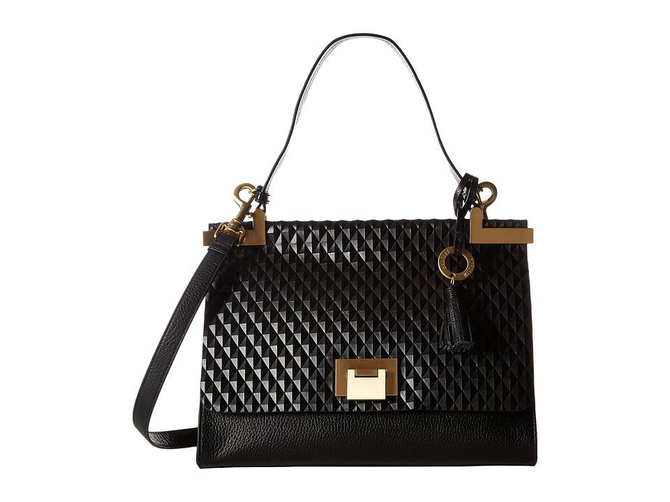 Badgley Mischka - Blanche Satchel (Black) Satchel Handbags
