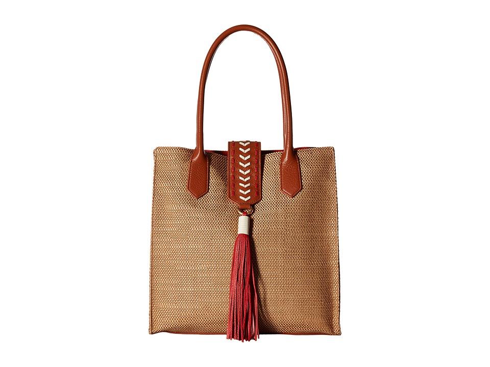 Badgley Mischka - Bailey Straw Tote (Natural) Tote Handbags