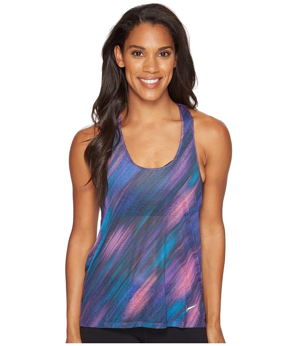 Nike - Breathe Print Running Tank (Dark Iris) Women's Sleeveless