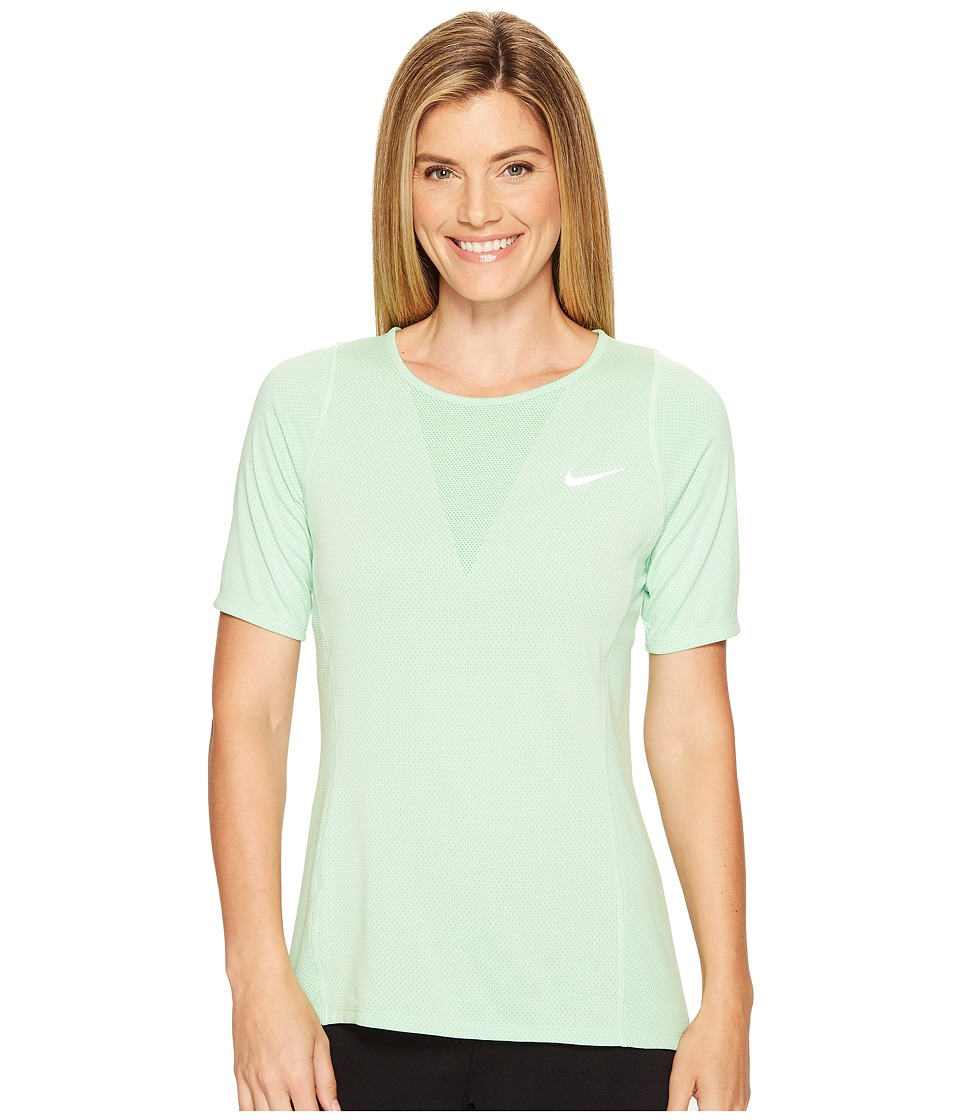 Nike - Zonal Cooling Relay Short Sleeve Running Top (Fresh Mint) Women's Clothing