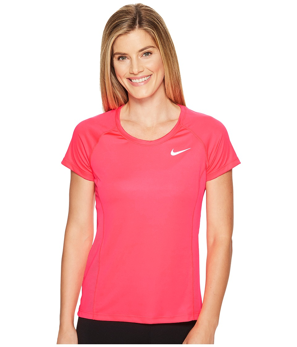 Nike - Dry Miler Short Sleeve Running Top (Racer Pink/Sport Fuchsia) Women's Clothing