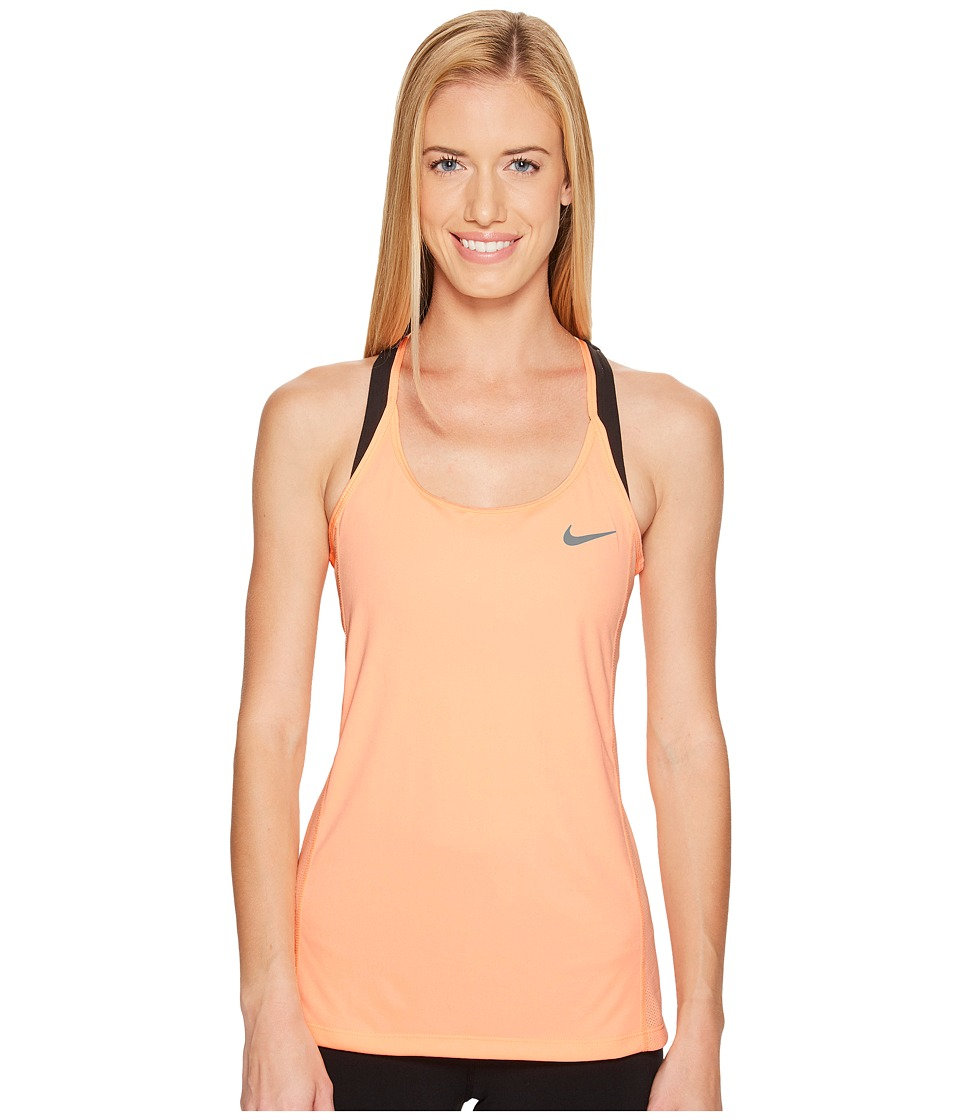 Nike - Dry Miler Running Tank (Sunset Glow/Sunset Glow) Women's Clothing