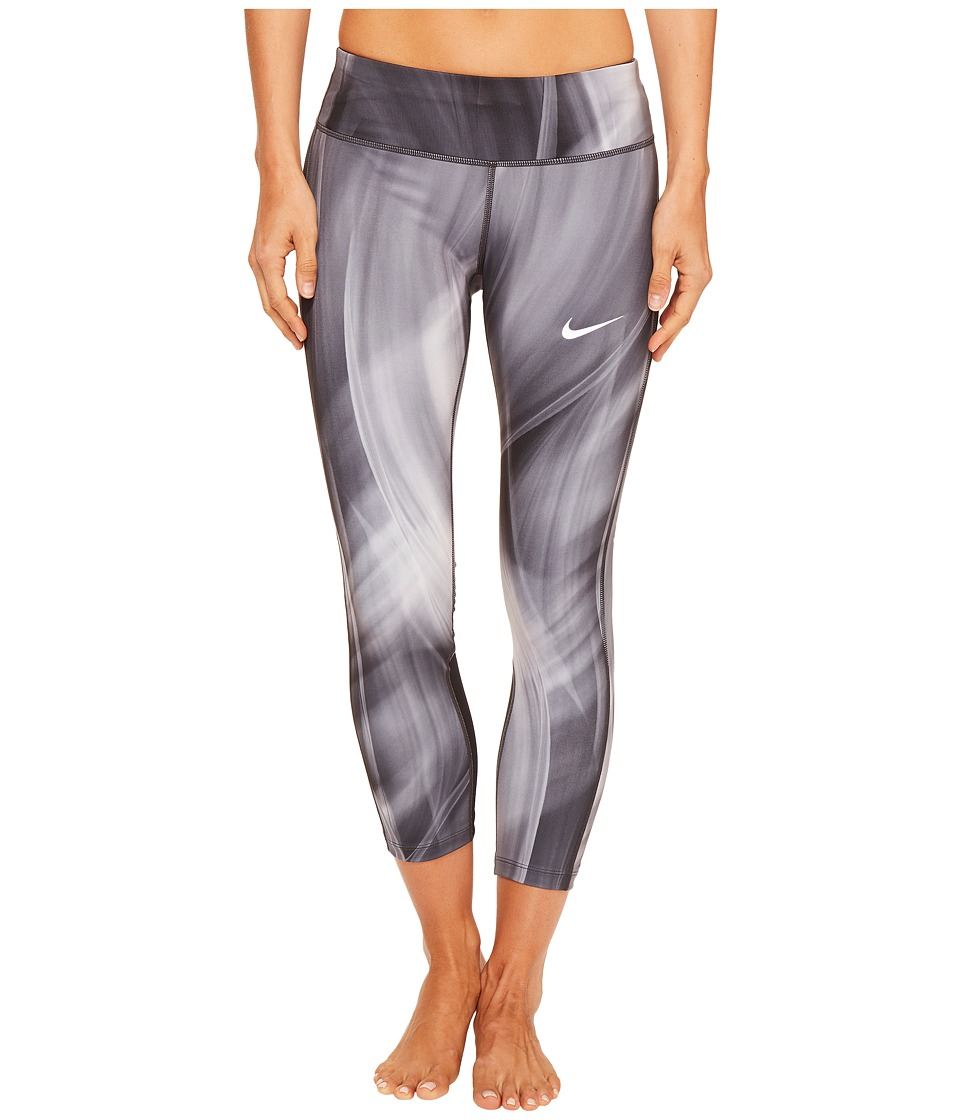Nike - Power Epic Print Running Crop (Black/Black) Women's Clothing