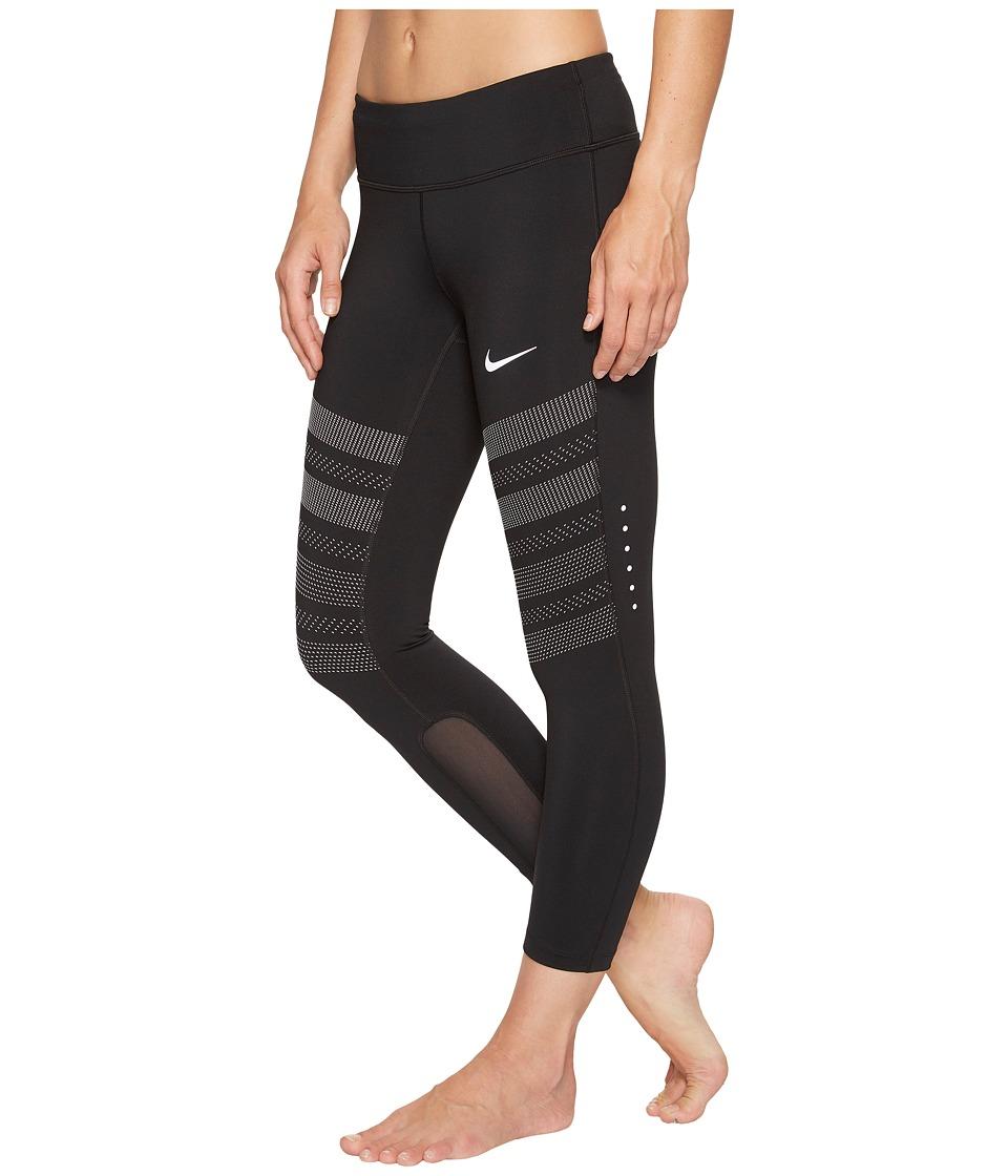 Nike - Power Epic Graphic Running Crop (Black) Women's Clothing