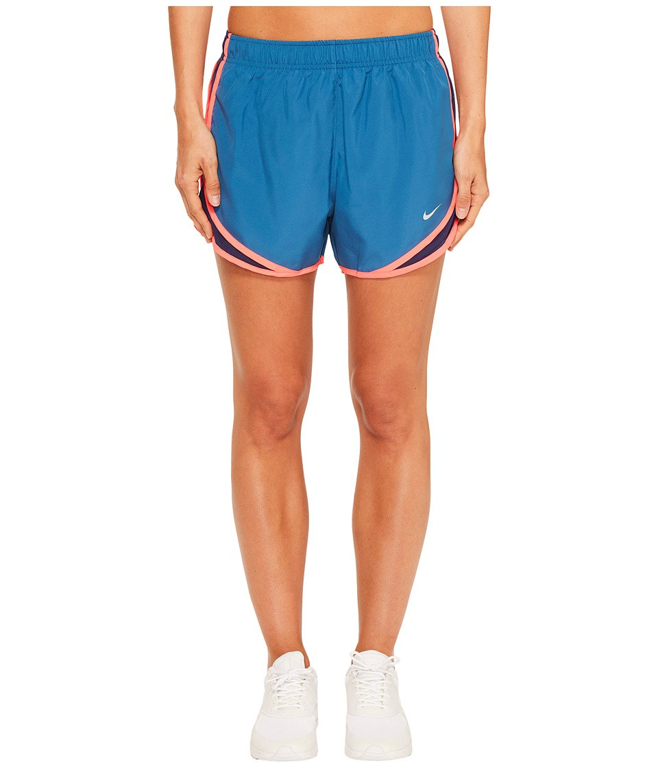 Nike - Dry Tempo Short (Industrial Blue/Binary Blue/Wolf Grey) Women's Shorts