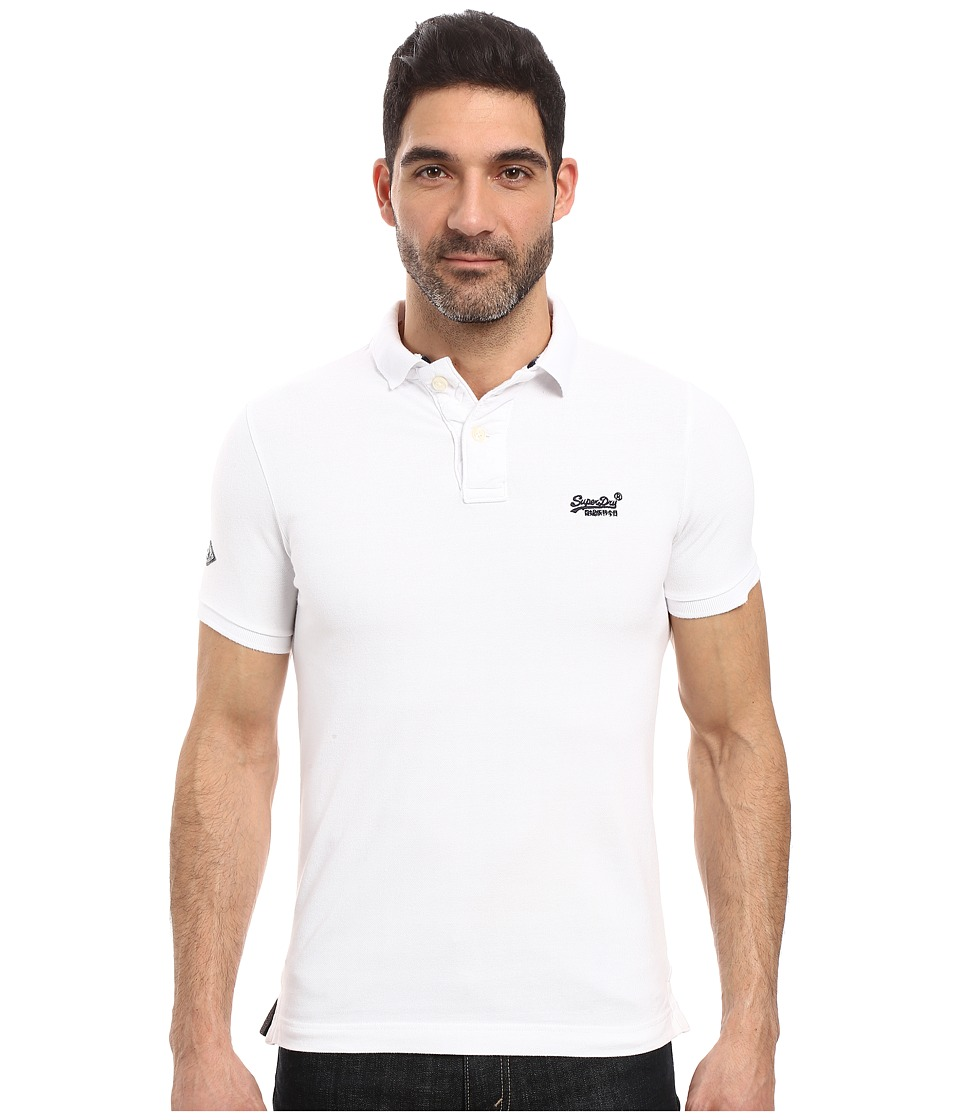 Superdry - Classic Pique Short Sleeve Polo (Optic) Men's Short Sleeve Knit