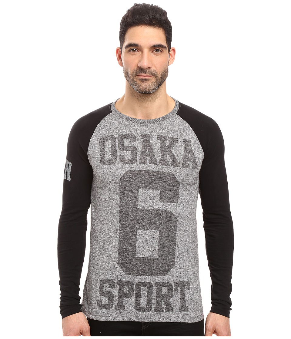 Superdry - Osaka Sport Long Sleeve Tee (Dark Grey Grit) Men's T Shirt