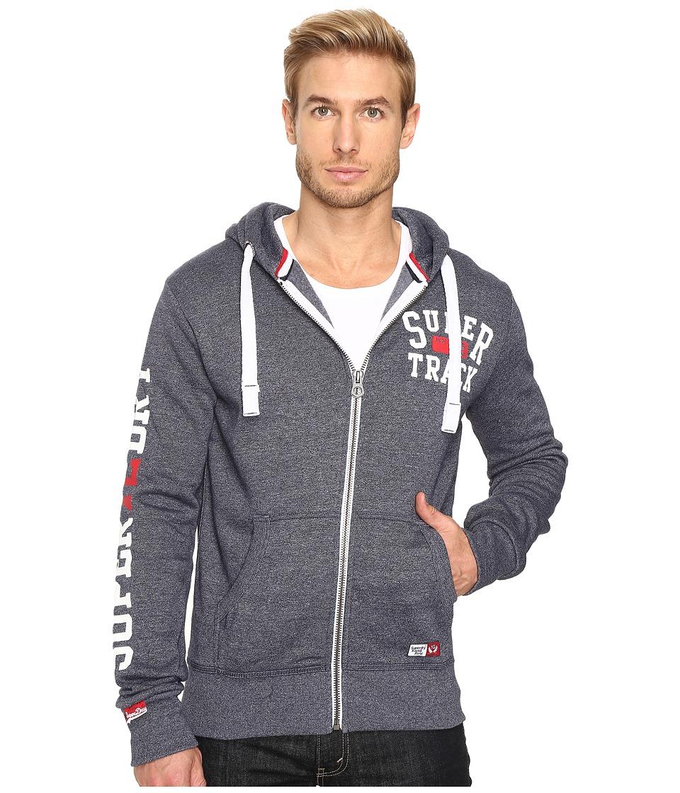 Superdry - Trackster Zip Hoodie (Enamel Blue Grit) Men's Sweatshirt