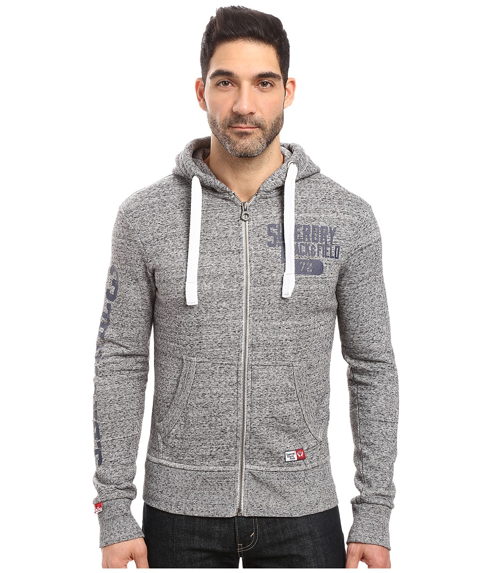 Superdry - Trackster Zip Hoodie (Flint Grey Grit) Men's Sweatshirt