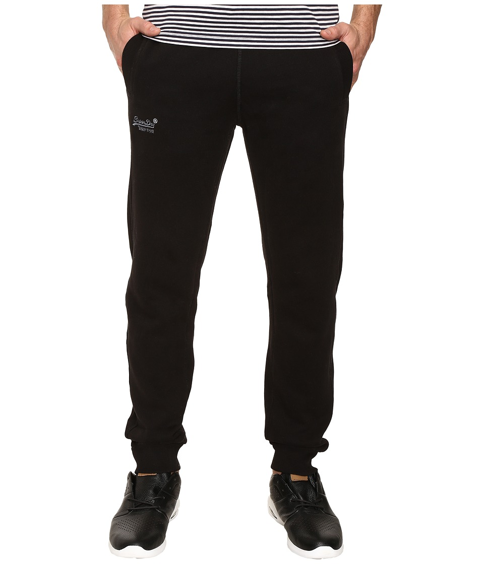 Superdry - Orange Label Slim Jogger (Jet Black) Men's Clothing