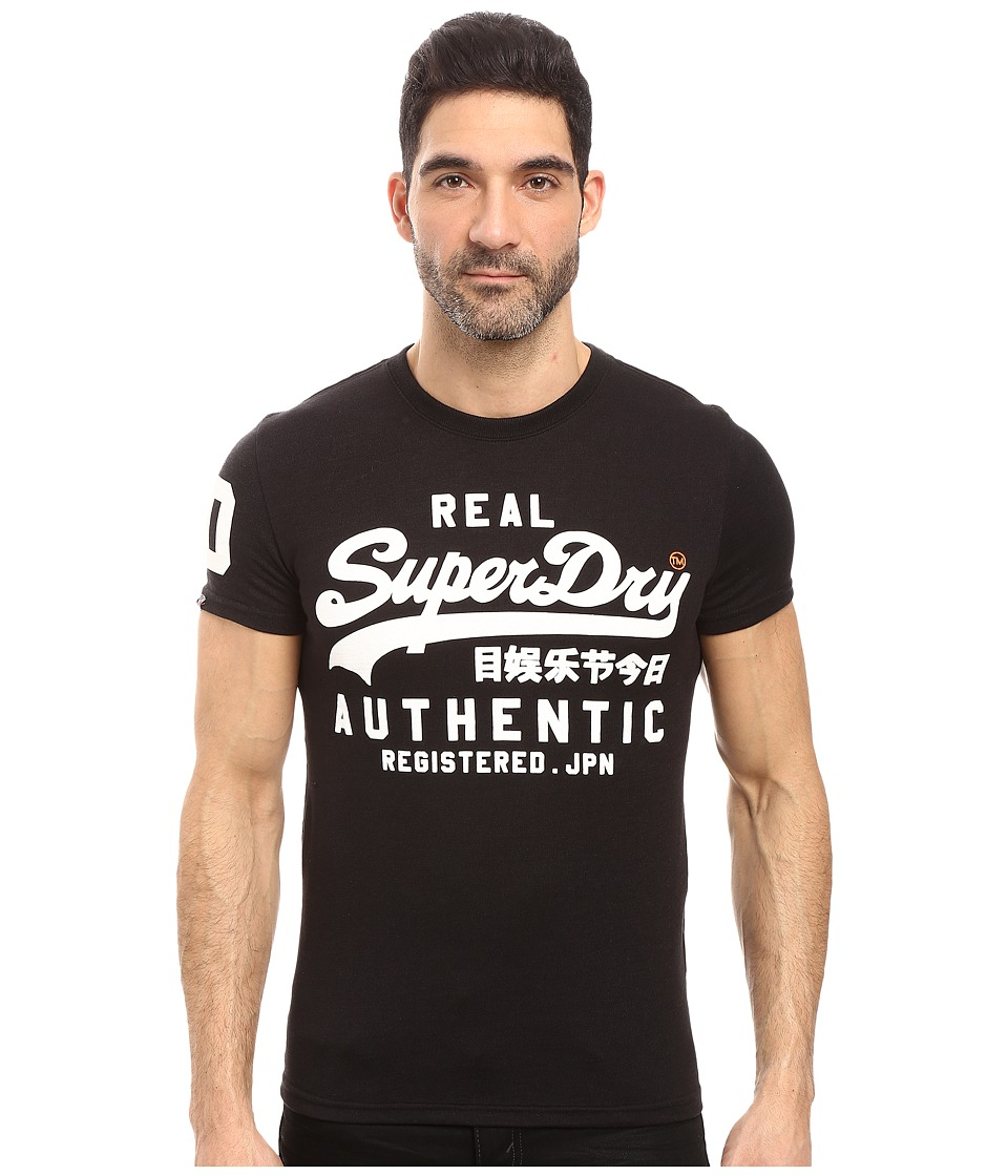 Superdry - Vintage Authentic Duo Tee (Tonal Black Grit) Men's T Shirt
