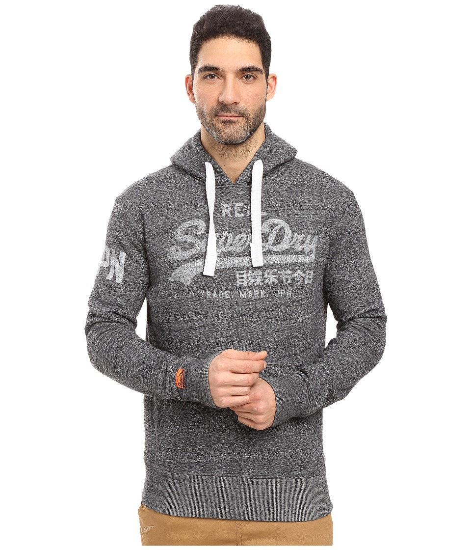 Superdry - Vintage Logo Hoodie (Nebular Navy Heather) Men's Sweatshirt