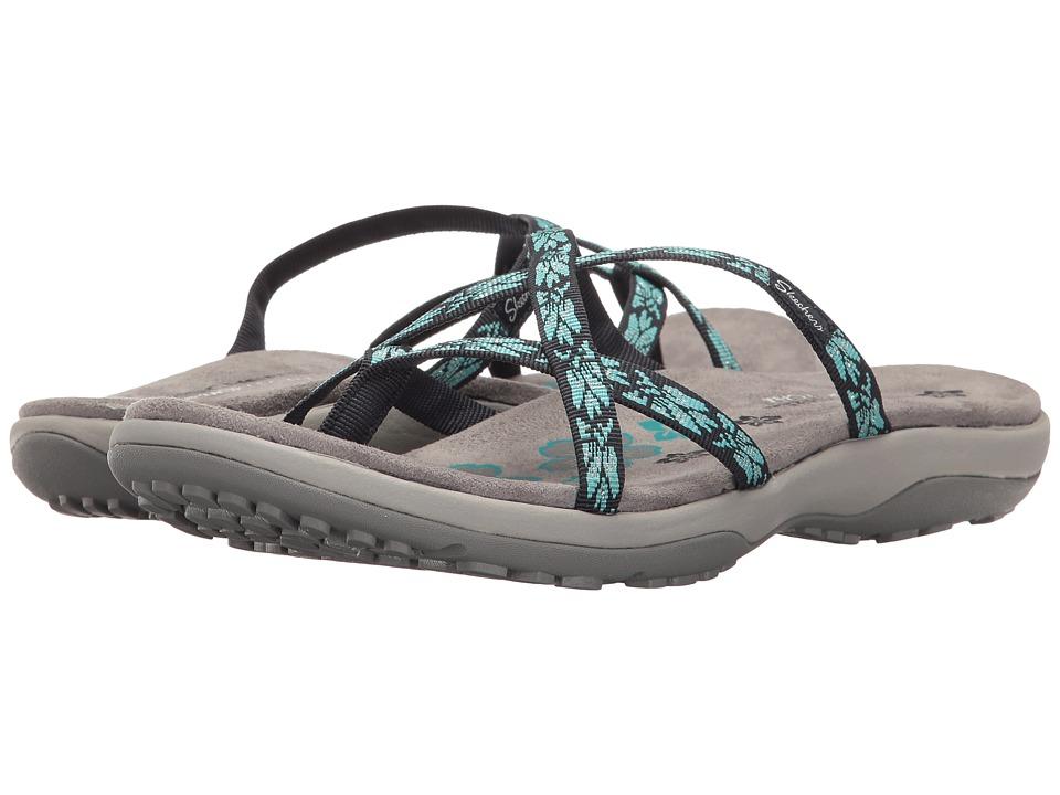 SKECHERS - Reggae Slim - Hula (Navy/Turquoise) Women's Shoes
