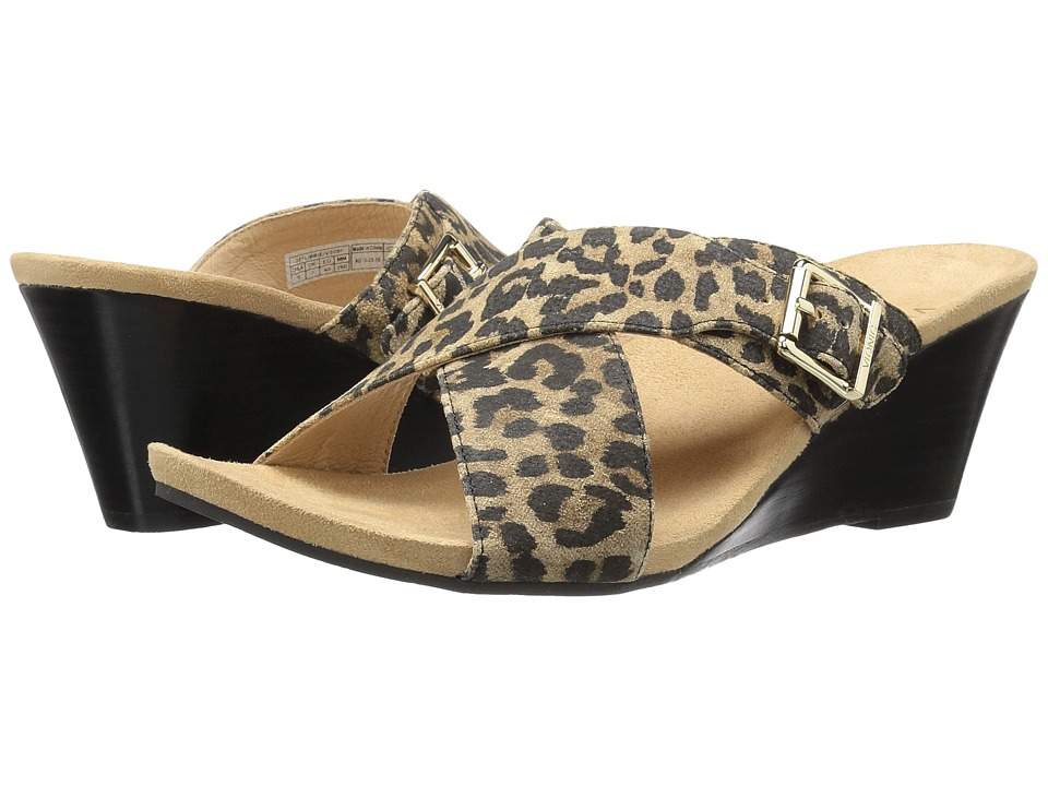 VIONIC - Libbie (Tan Leopard) Women's Slide Shoes