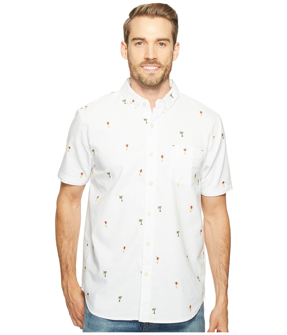 True Grit - Island Time One-Pocket Short Sleeve Shirt (White) Men's Short Sleeve Button Up