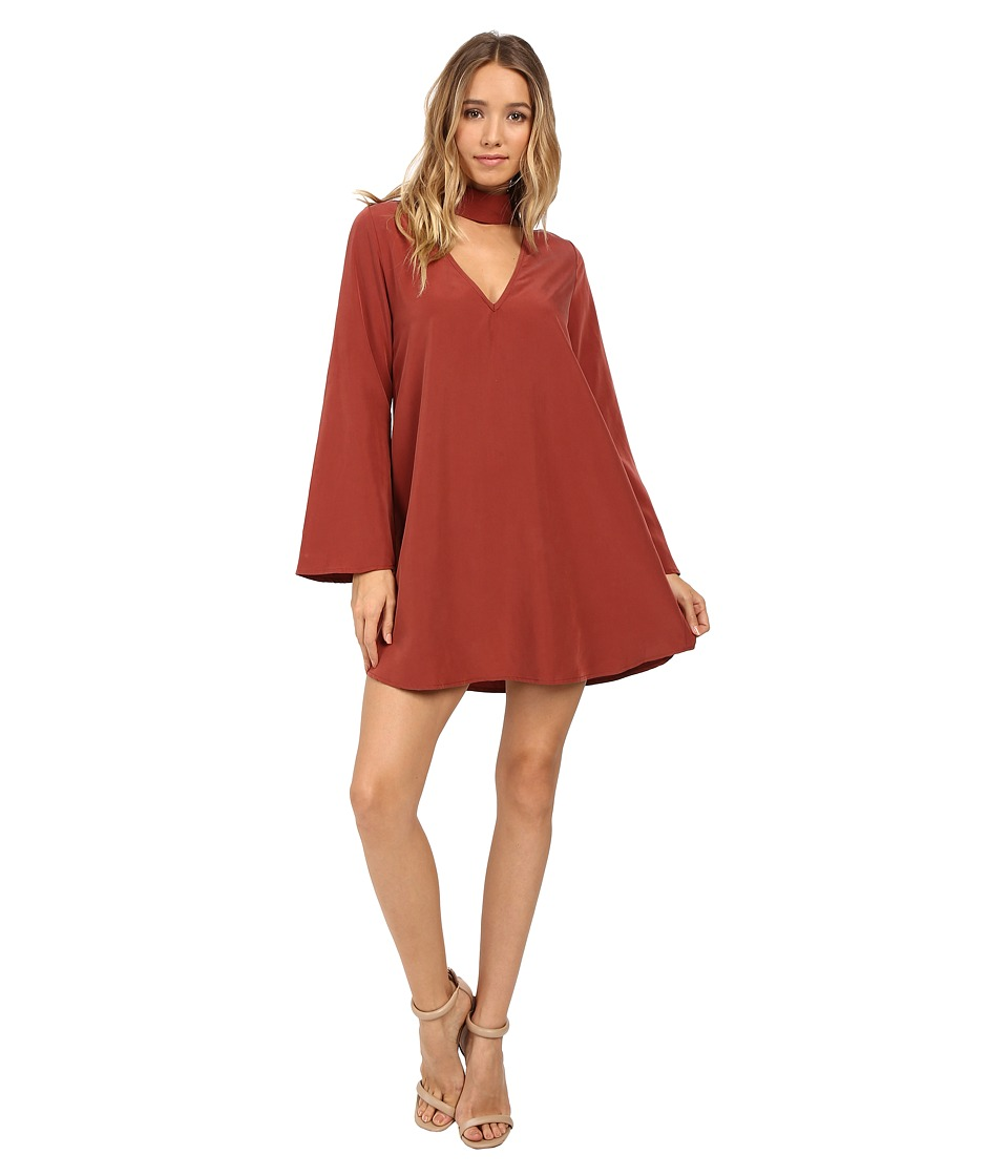 Brigitte Bailey - Leta Long Sleeve Keyhole Dress (Rust) Women's Dress
