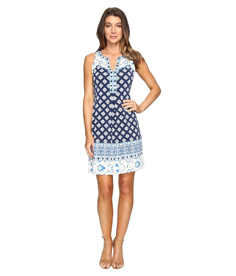 Hale Bob - Pop Artist Microfiber Jersey Sleeveless Dress (Navy) Women's Dress