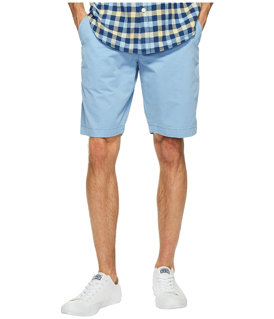True Grit - Soho Softest Shorts Vintage Washed Stitch Details (Soft Blue) Men's Shorts