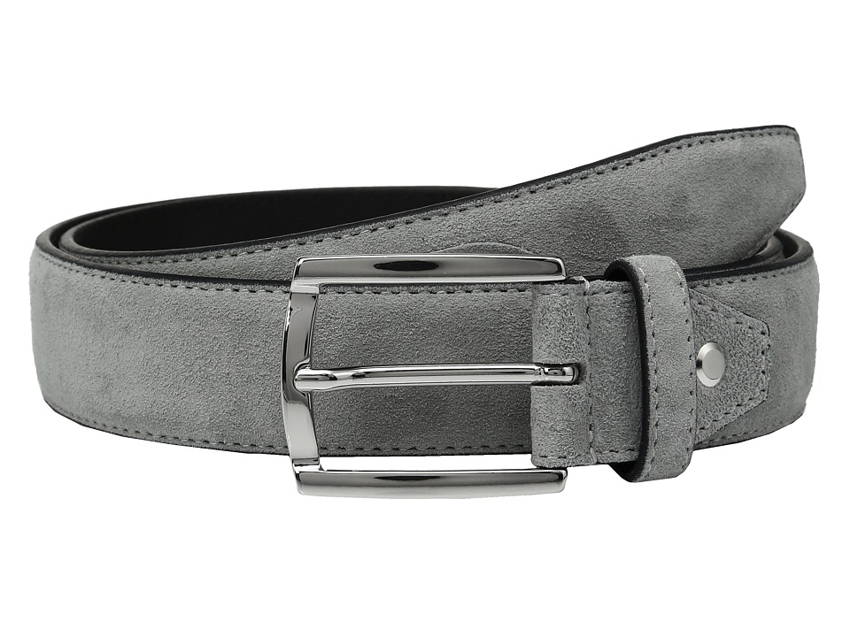 BUGATCHI - Fellini Suede Belt (Grigio) Men's Belts