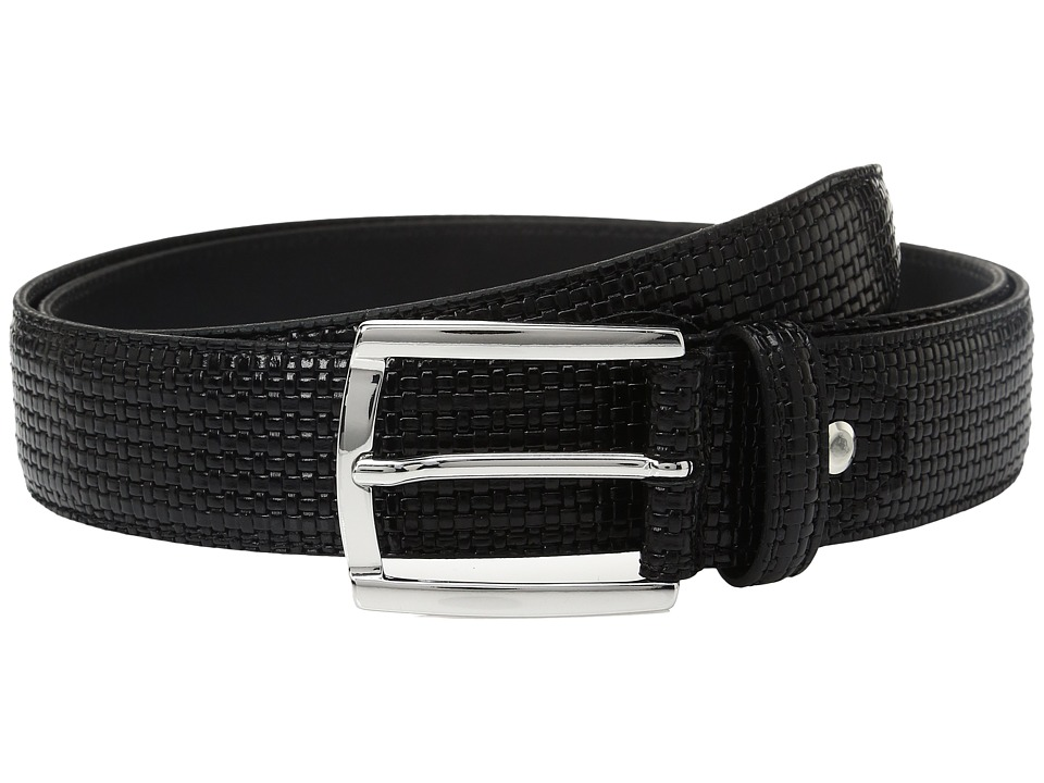 BUGATCHI - Donatello Textured Belt (Nero) Men's Belts