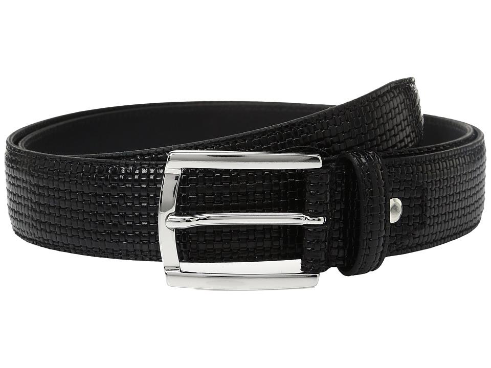 BUGATCHI - Donatello Textured Belt (Nero) Men's Belts