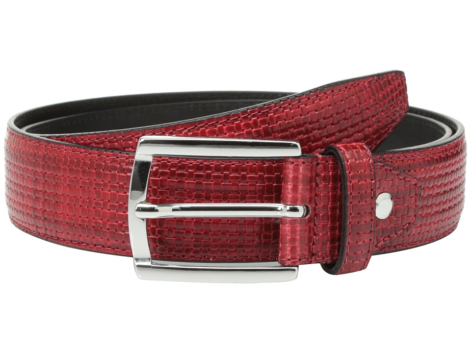 BUGATCHI - Donatello Textured Belt (Rosso) Men's Belts