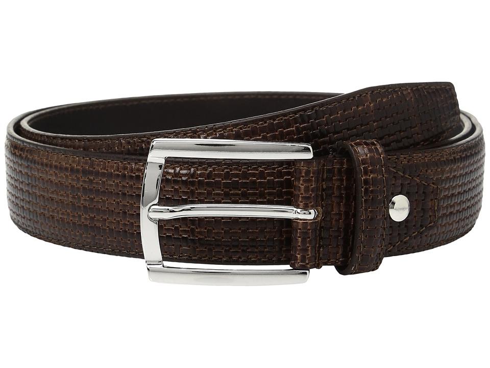 BUGATCHI - Donatello Textured Belt (Testa Di Moro) Men's Belts