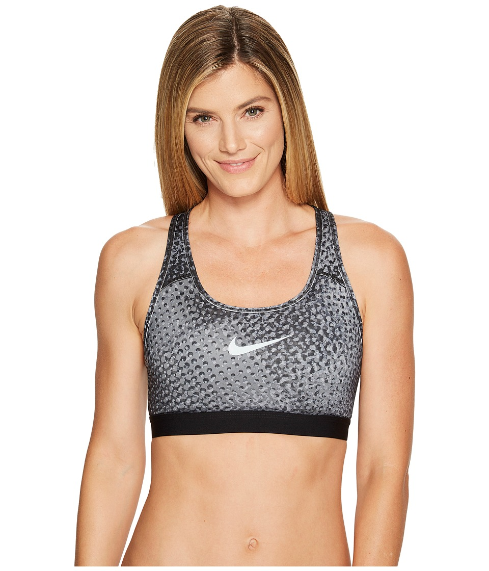 Nike - Pro Classic Kaleidoscope Medium Support Sports Bra (Pure Platinum/Black/Pure Platinum) Women's Bra