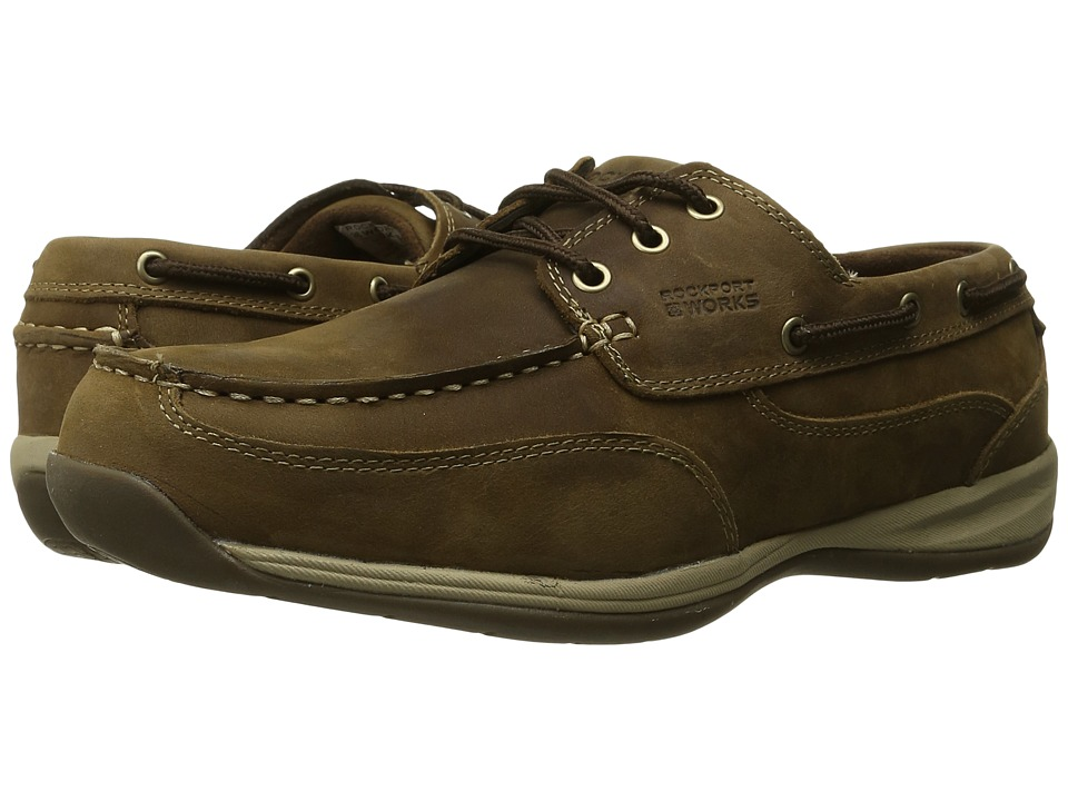 Rockport Works - Sailing Club (Brown) Men's Work Boots