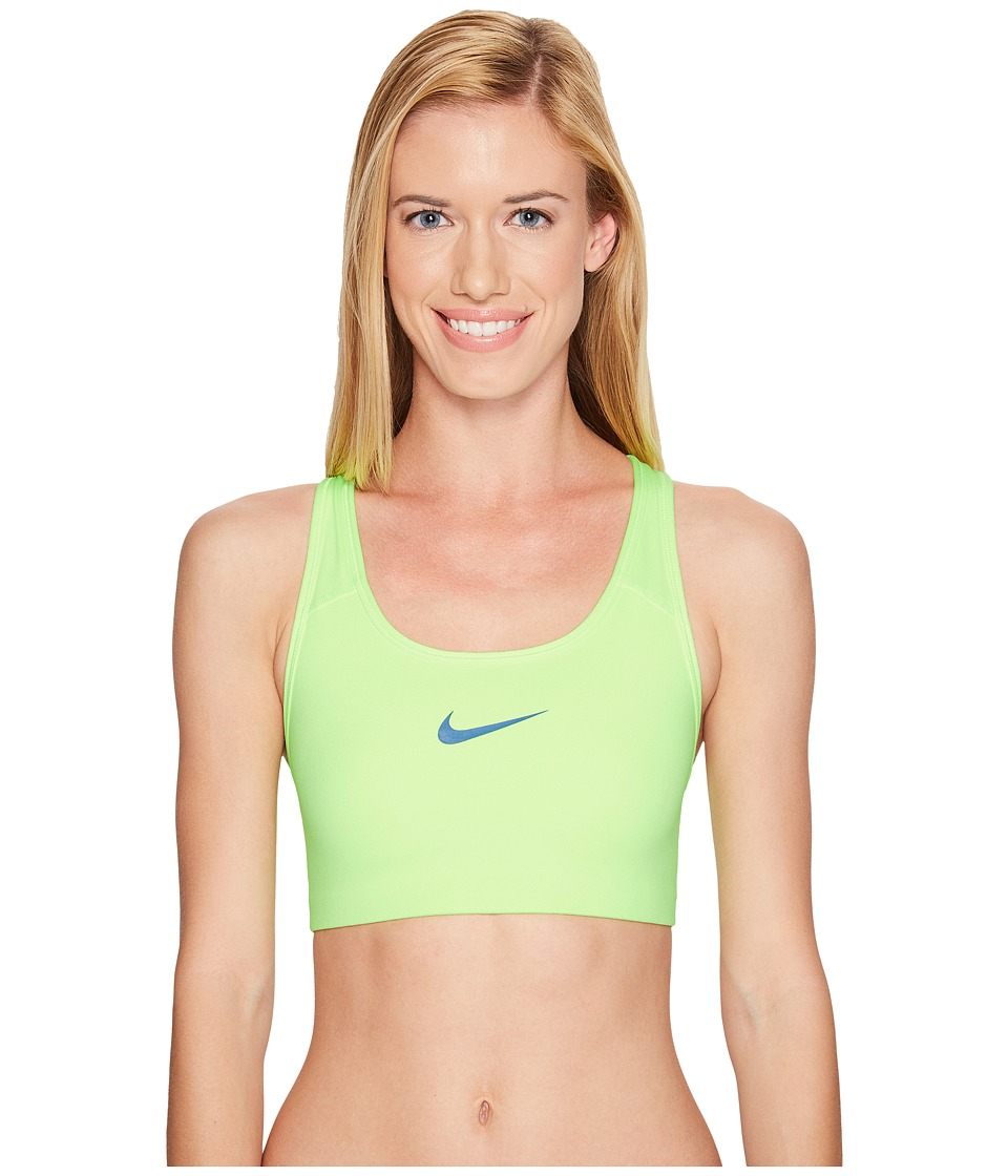 Nike - Pro Classic Swooshtm Sports Bra (Ghost Green/Industrial Blue) Women's Bra