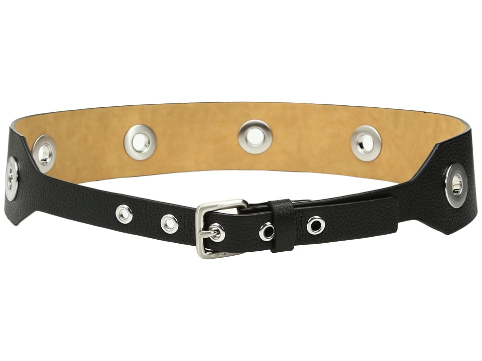 MICHAEL Michael Kors - 50mm Tapered Pebble Belt with All Over Grommets (Black) Women's Belts