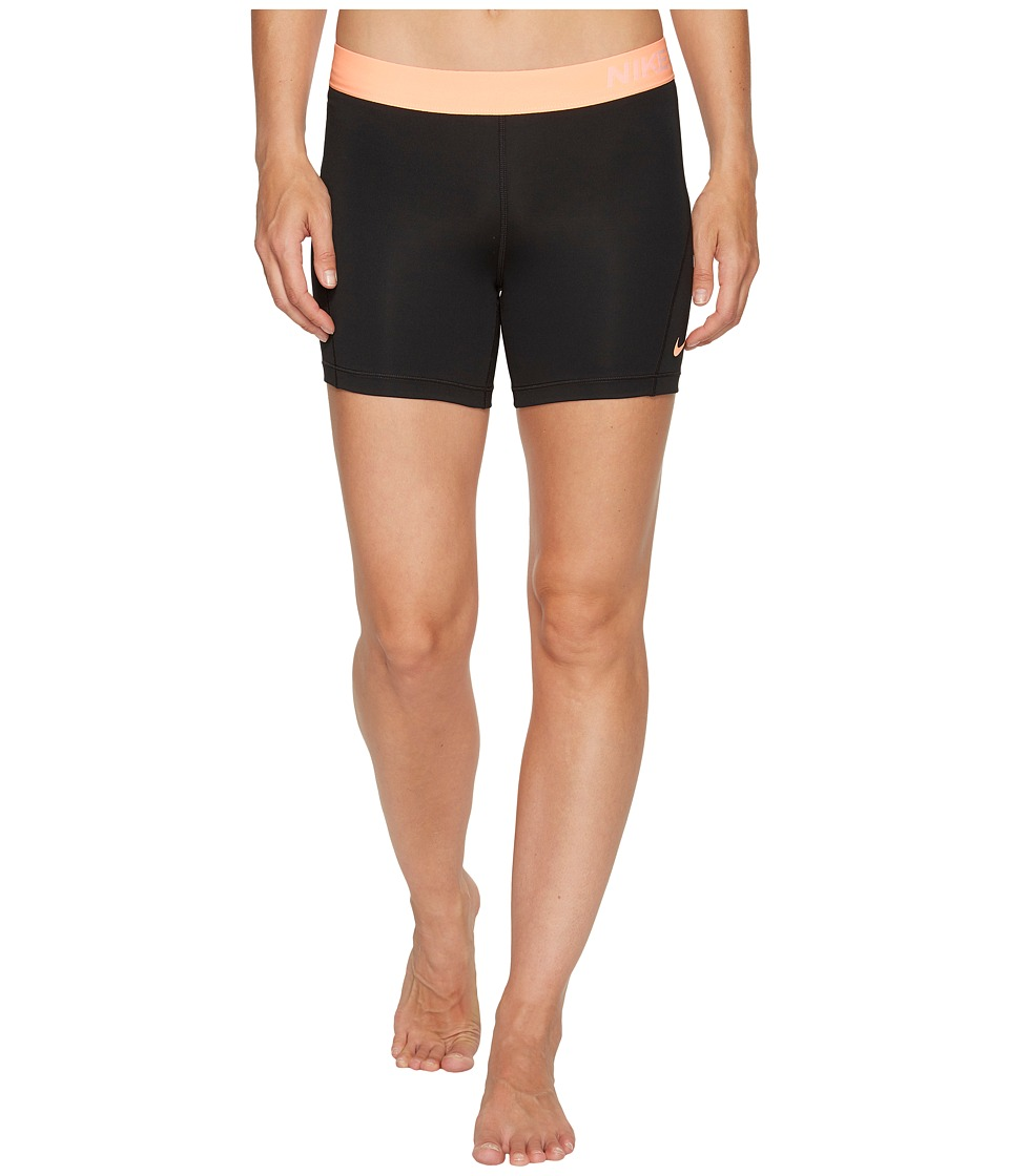Nike - Pro 5 Cool Training Short (Black/Sunset Glow/Sunset Glow) Women's Shorts