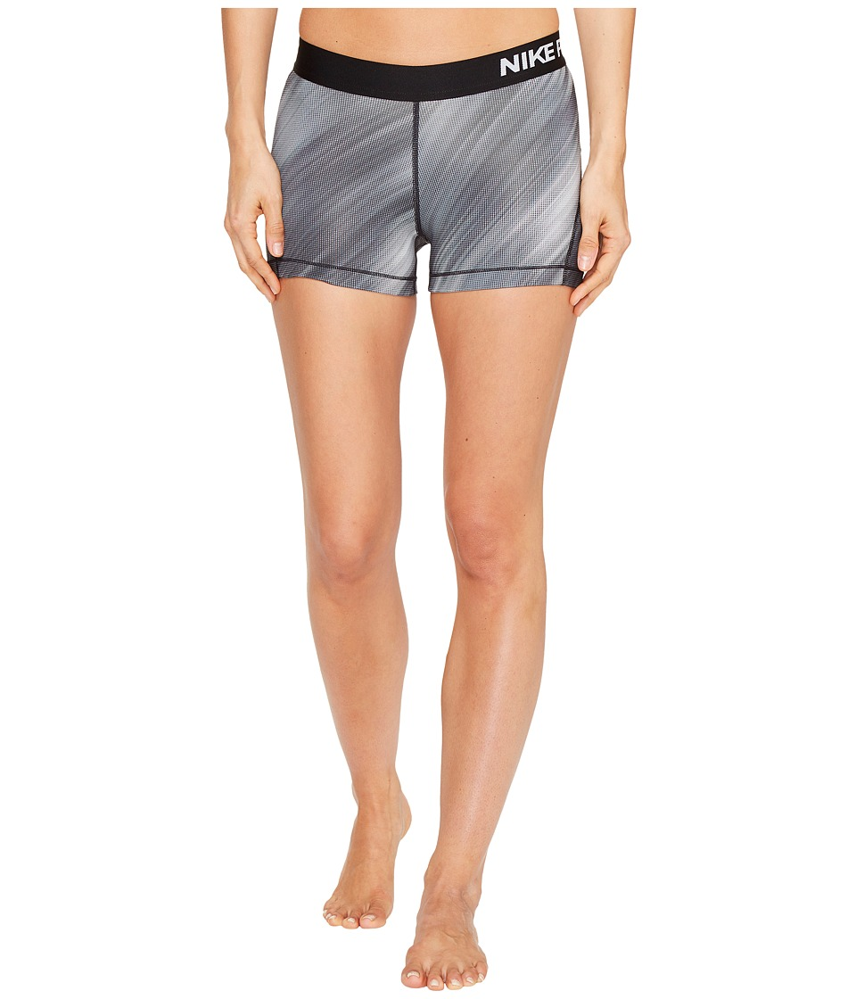Nike Pro Cool 3 Light Streak Print Training Short (Black/White) Women