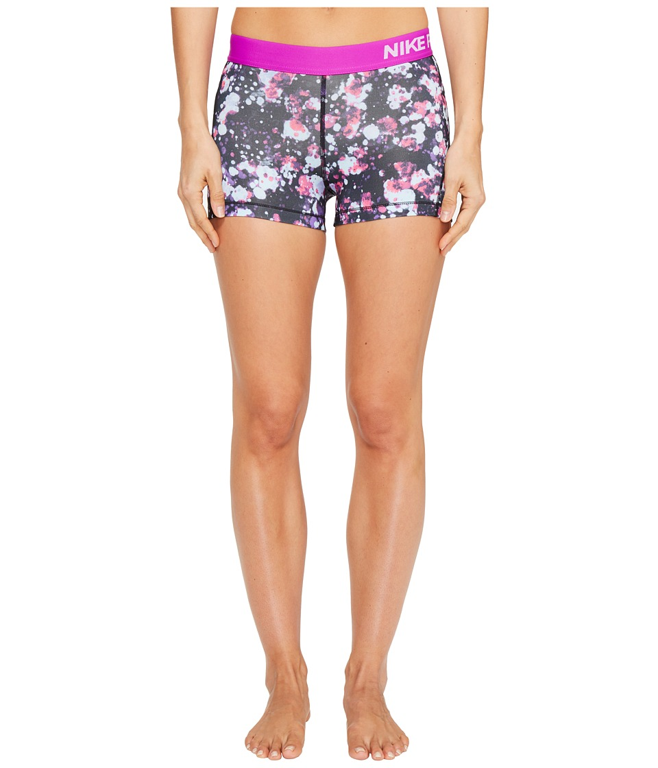 Nike Pro Cool 3 Microcosm Print Short (Vivid Purple/White) Women