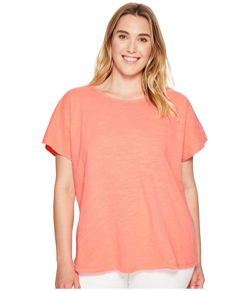 Extra Fresh by Fresh Produce - Plus Size Keepsake T-Shirt (Sunset Coral) Women's T Shirt