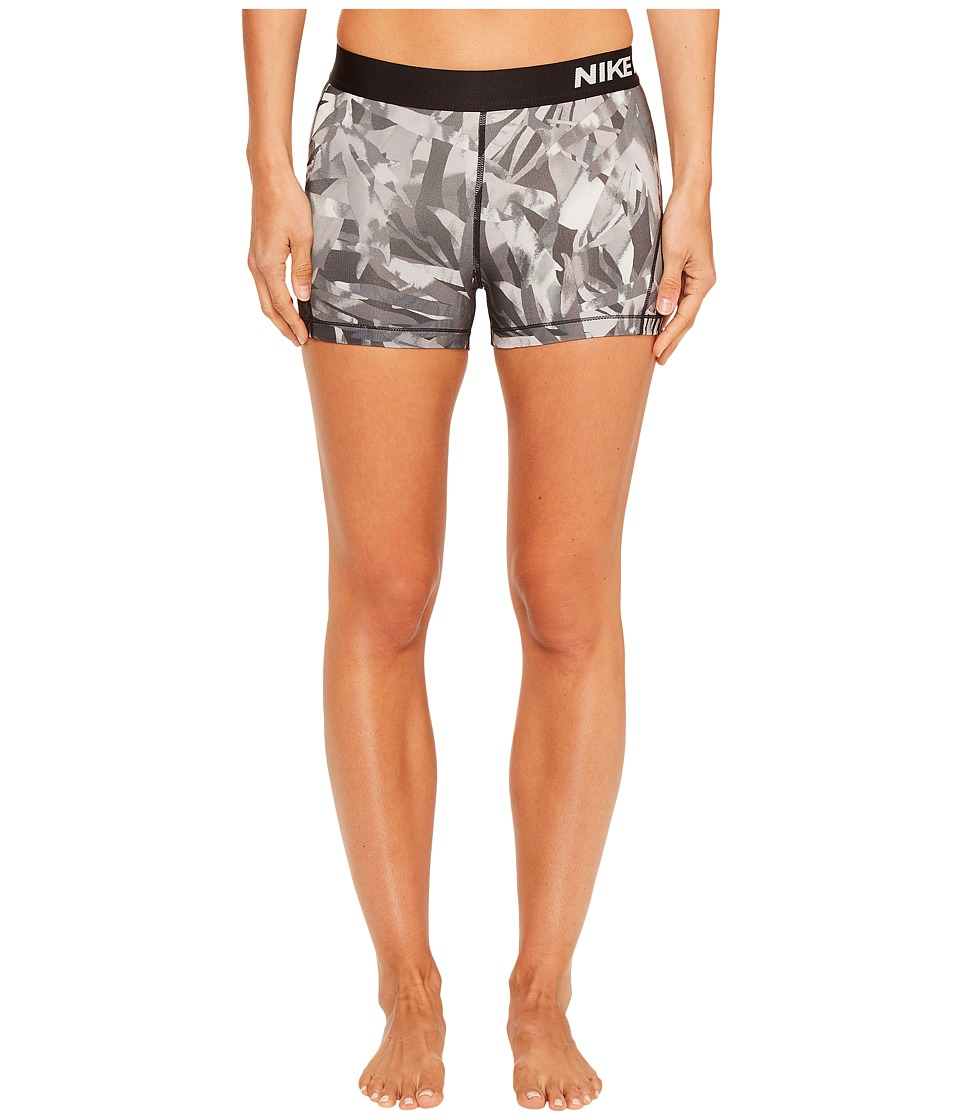 Nike Pro Cool Palm Print Training Short (Black/White) Women