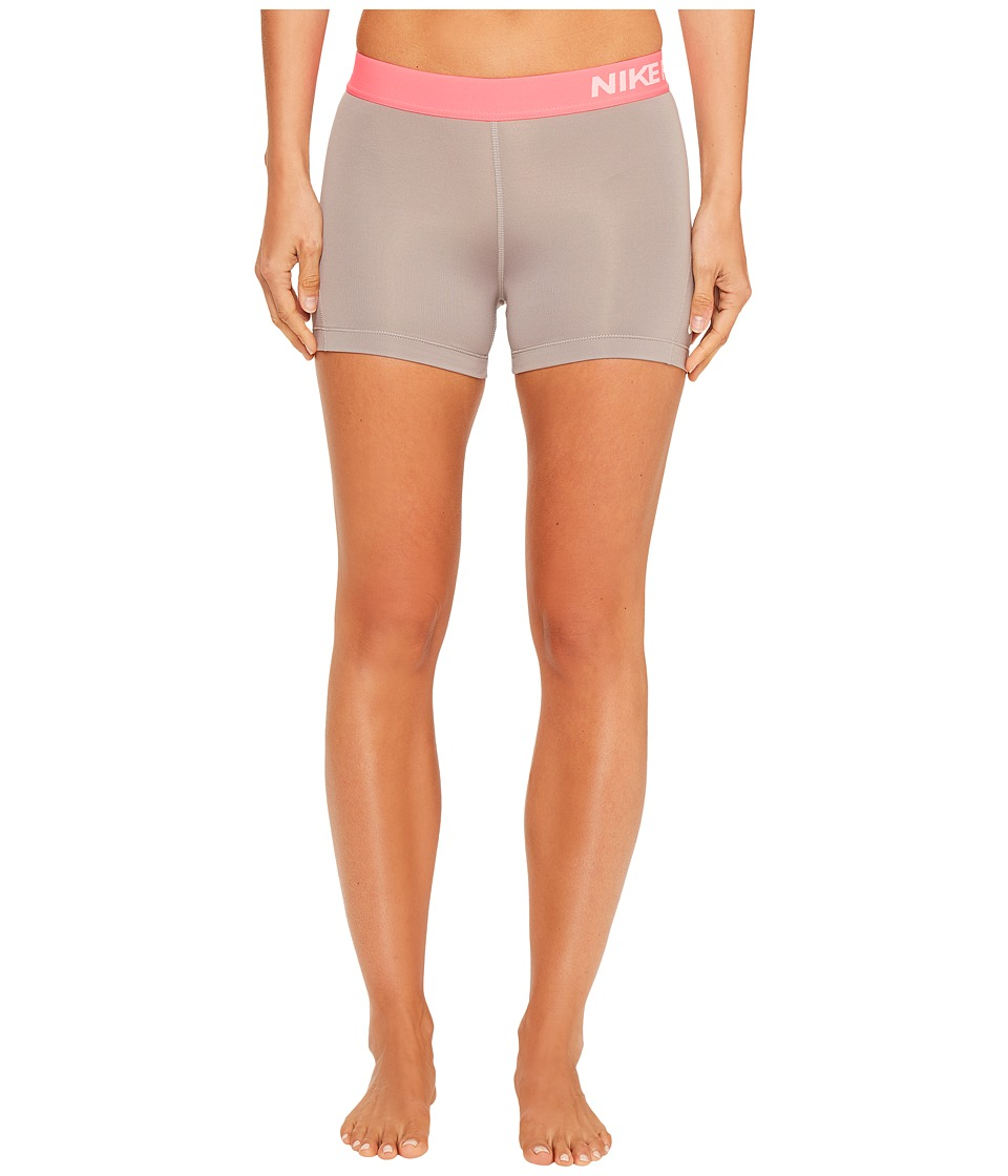 Nike - Pro 3 Cool Compression Training Short (Dust/Racer Pink/White) Women's Shorts