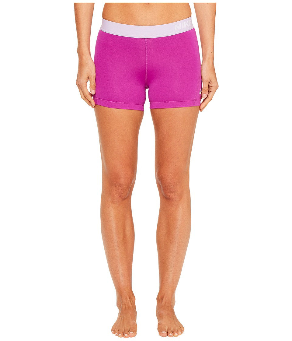 Nike - Pro 3 Cool Compression Training Short (Vivid Purple/Hydrangeas/White) Women's Shorts
