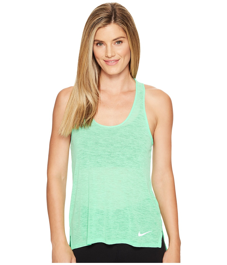 Nike - Breathe Cool Running Tank (Electro Green) Women's Sleeveless