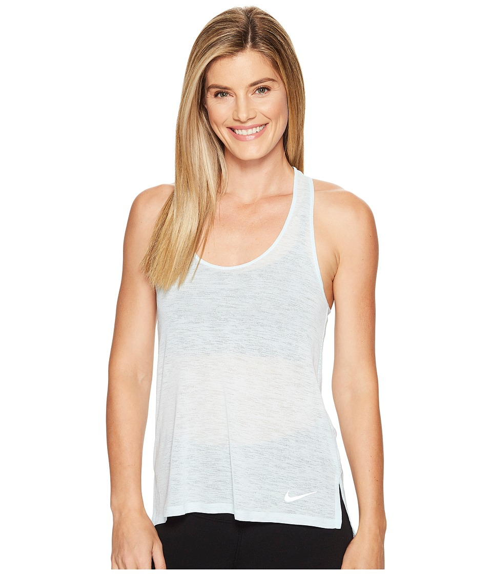 Nike - Breathe Cool Running Tank (Glacier Blue) Women's Sleeveless