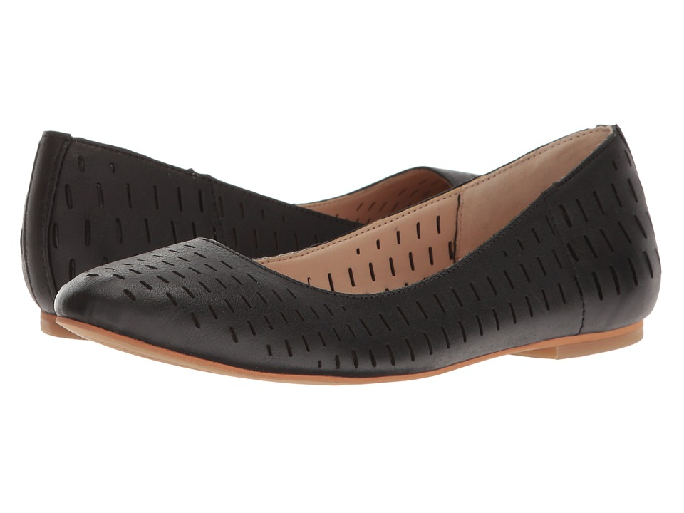 Dr. Scholl's - Vixen - Original Collection (Black Chopout Leather) Women's Flat Shoes