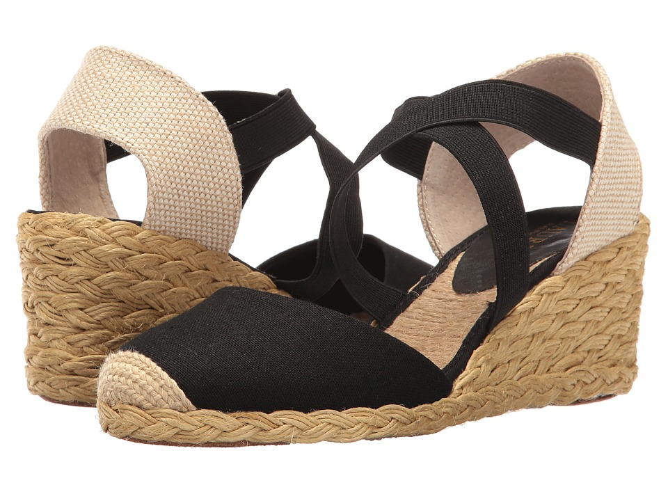 LAUREN Ralph Lauren - Casandra (Black 1) Women's Wedge Shoes