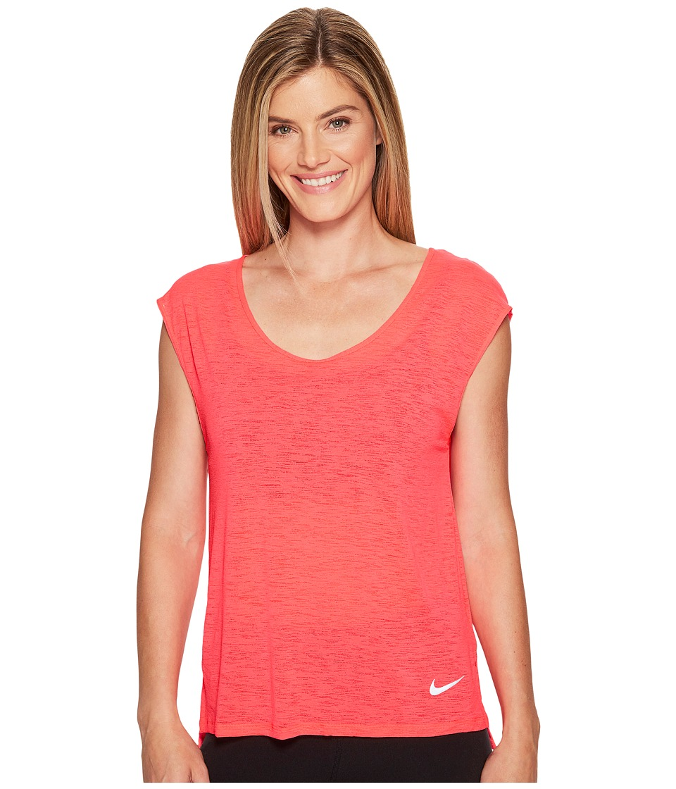 Nike - Breathe Cool Short Sleeve Running Top (Racer Pink) Women's Clothing