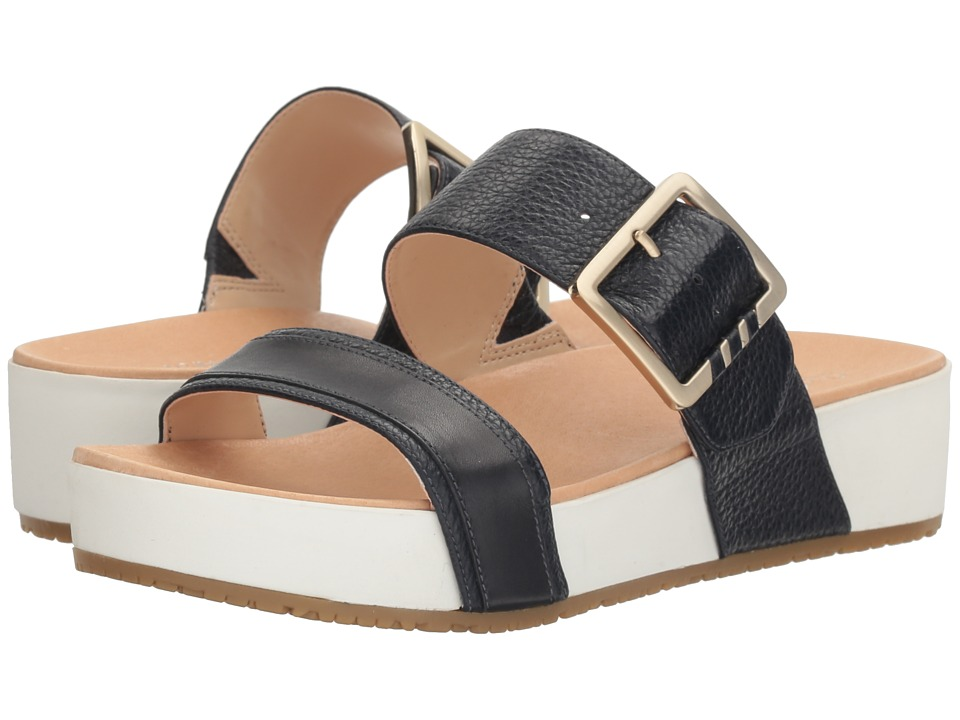 Dr. Scholl's - Frill - Original Collection (Navy Leather) Women's Sandals